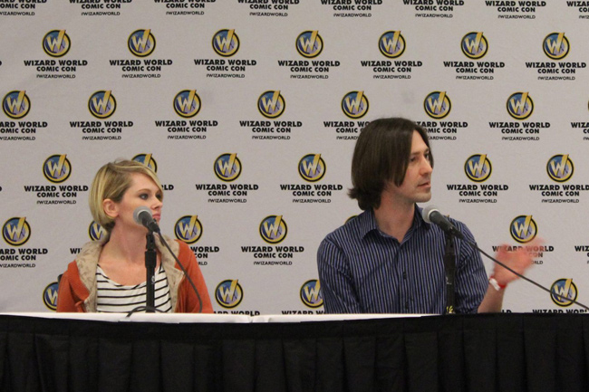 Abbra Smallwood and Justin Hannah speak at the 2013 Wizard World Film Festival