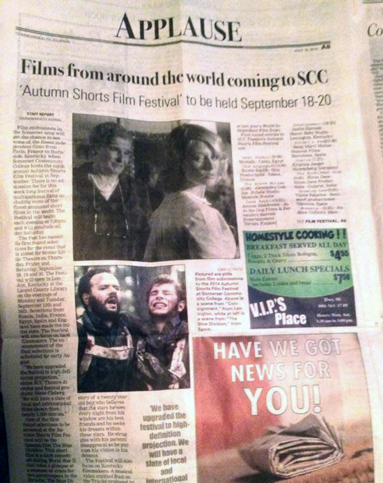 The Commonwealth Journal features Consignment movie by Justin Hannah in new article on the 2014 Autumn Shorts Film Festival