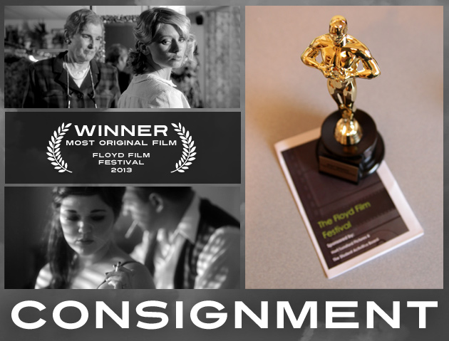 Consignment movie by Justin Hannah wins Most Original Film award at 2013 Floyd Film Festival